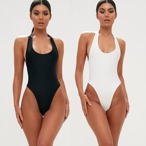 Two Pack High Leg One Piece